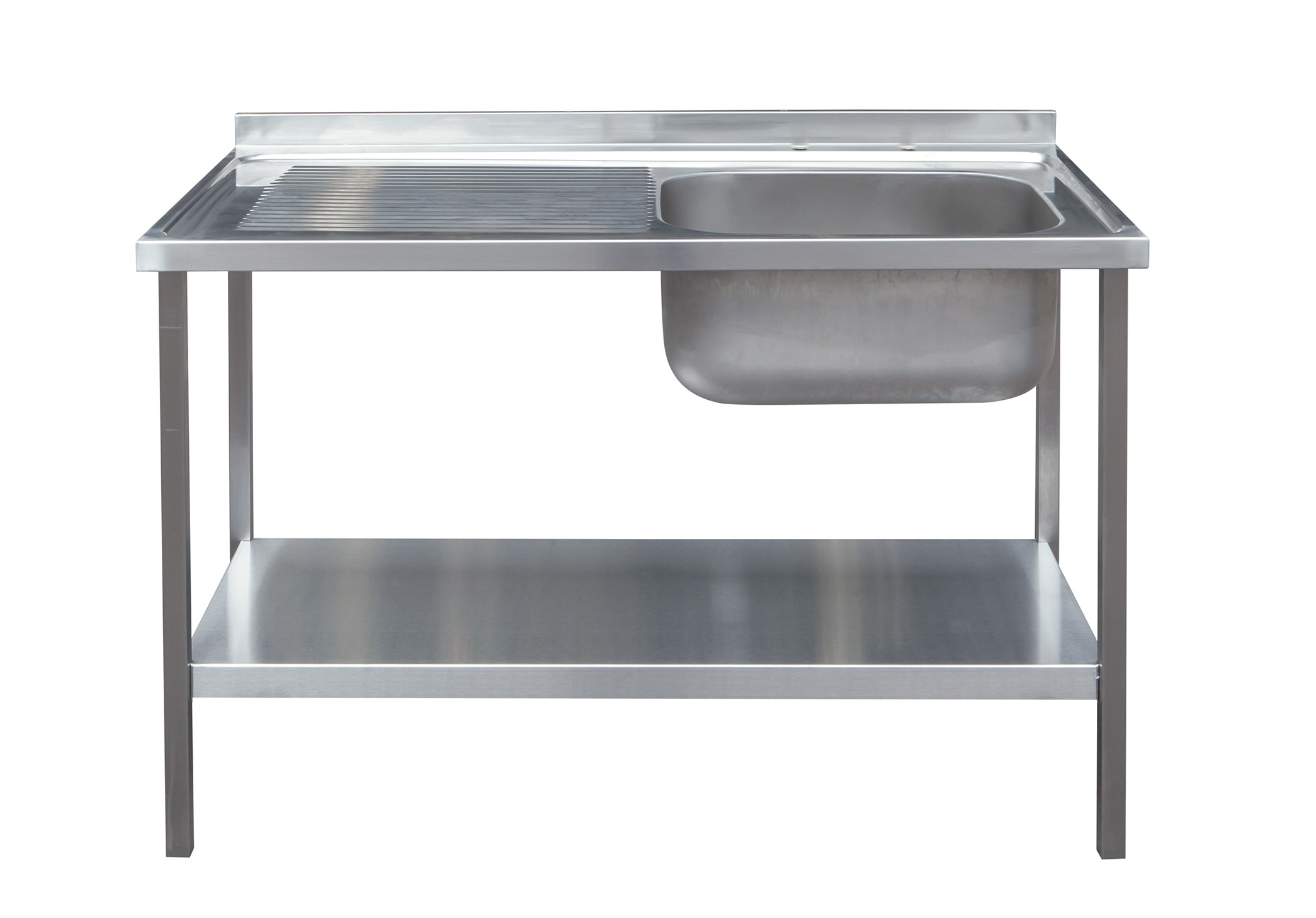 Flat Pack Stainless Steel Sink Unit With Undershelf Supplied With