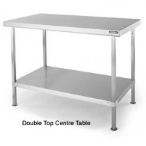 SCT1565 Double Top Stainless Steel Centre Table