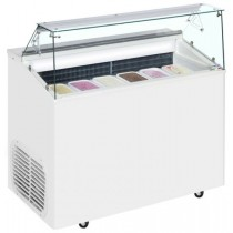 TOP 6E Ice Cream Display Freezer- Stocked