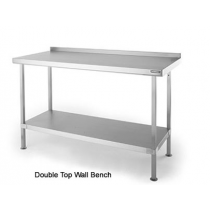 SWB37 Double Top Stainless Steel Wall Table